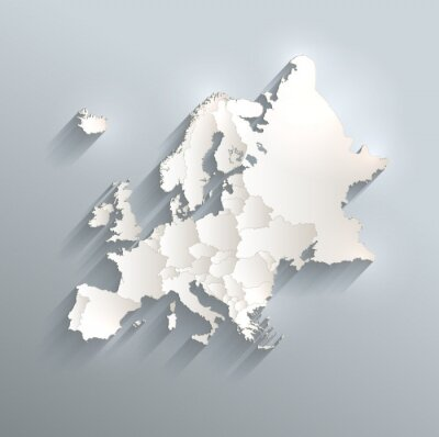 Vinilo Bandera del mapa político de Europa