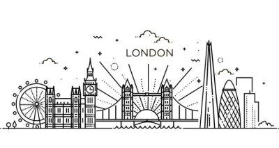 Vinilo Bandera lineal de la ciudad de Londres.