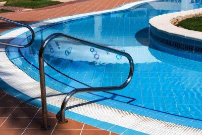 Barandillas de las escaleras de la piscina calcoman as for Barandilla piscina
