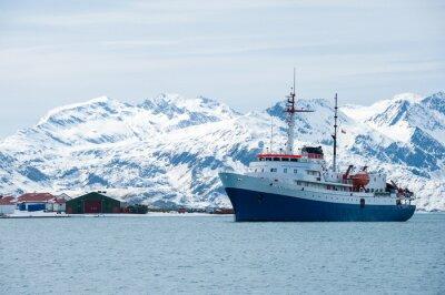 Vinilo Barco de cruceros en la Antártida