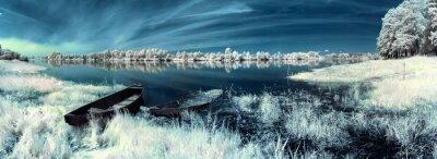 Vinilo barcos en el río