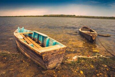 Vinilo Barcos en un río_2