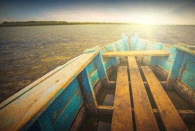 Vinilo Barcos en un río_5