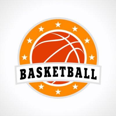 Vinilo Basketball emblem logo