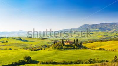 Vinilo Beautiful landscape in Tuscany, Italy