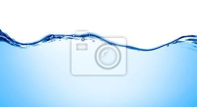 Vinilo bebida de burbuja de chapoteo líquido de onda de agua azul