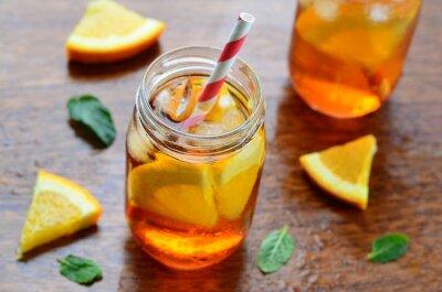 Vinilo Bebida fría naranja