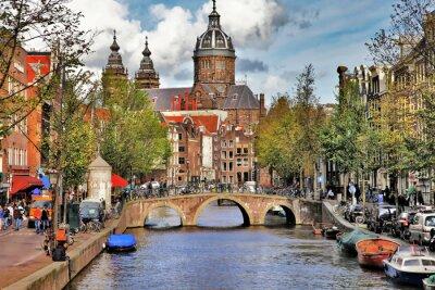 Vinilo bellos canales de Amsterdam