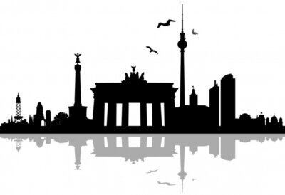 Vinilo Berlín horizonte la silueta