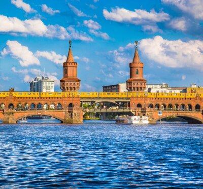 Vinilo Berlín Oberbaumbrücke, Friedrichshain-Kreuzberg, Alemania