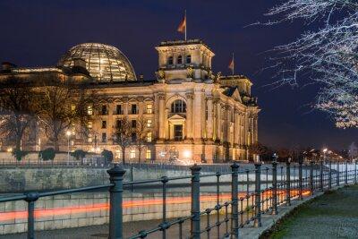 Vinilo Berlín Reichstag en la noche