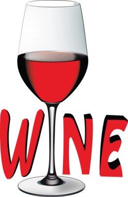 Vinilo Bicchiere di vino rosso