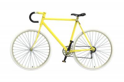 Vinilo Bicicleta ciudad artes fijos de color mezclando fondo aislado