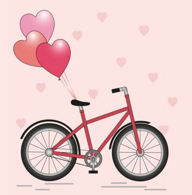 Vinilo Bicycle with balloons