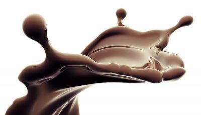 Vinilo bienvenida de chocolate