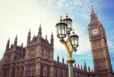 Vinilo Big Ben y las casas del parlamento en Londres