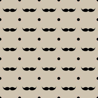Vinilo Bigote patrón transparente ilustración vectorial eps 10