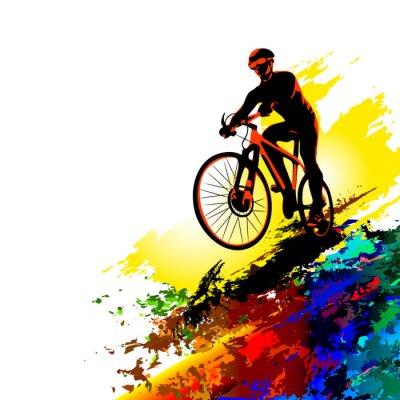 Vinilo Biker sport. Ilustración vectorial
