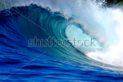 Vinilo Blue surfing wave