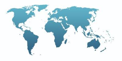 Vinilo blue world map