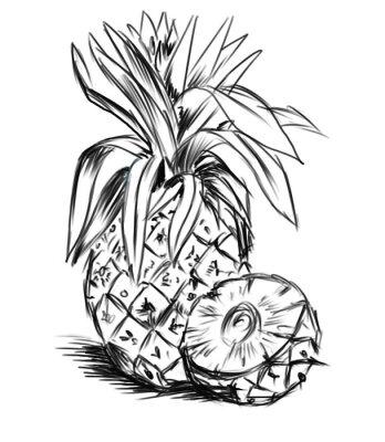 Vinilo boceto de piña