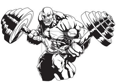 Vinilo Bodybuilder Flex pesada barra