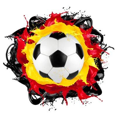 Vinilo Bola de fútbol retro bandera alemana color salpicadura