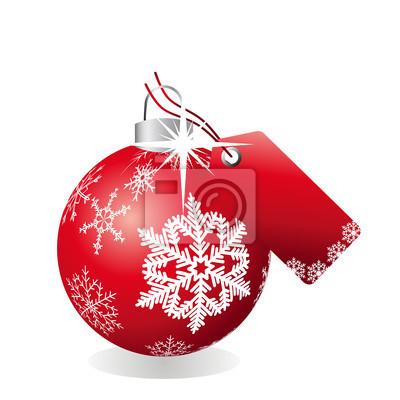Vinilo Bola de Navidad con día