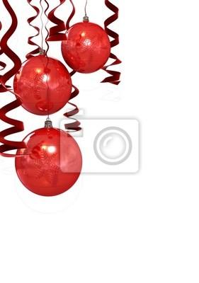 Bolas de navidad de color rojo aisladas sobre fondo blanco vinilos ... 48cbc37fcfe15
