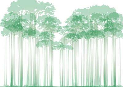 Vinilo Bosque en fondo neutro