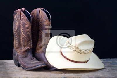 Botas de vaquero y sombrero de vaquero naturaleza muerta vinilos ... a3232dba131