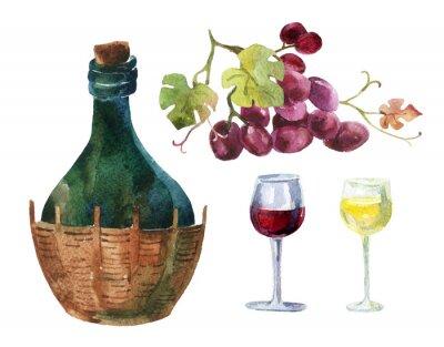 Vinilo Botellas de vid