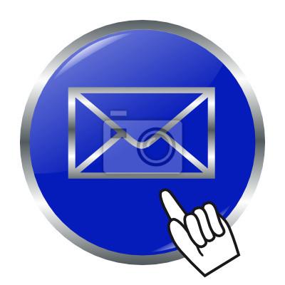 Vinilo botón de correo electrónico