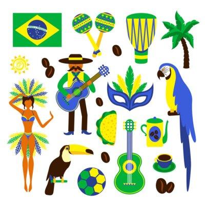 Vinilo Brasil conjunto decorativo