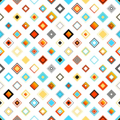 Vinilo Bright Colorful Seamless Geometric Pattern With Squares