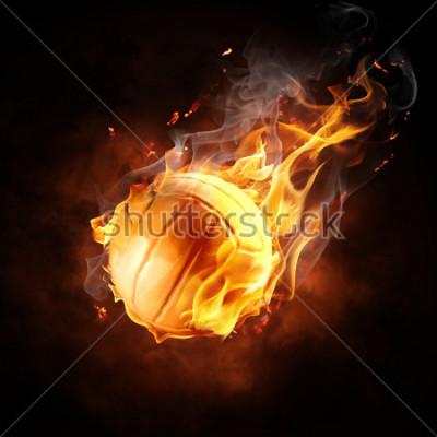 Vinilo bright flamy symbol on the black background