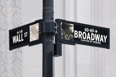 Vinilo Broadway uns Wall Street en Nueva York