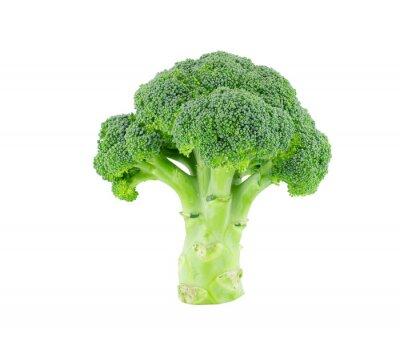 Vinilo Brócoli aislado en blanco con trazado de recorte