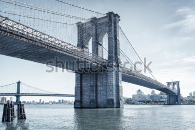 Vinilo brooklyn bridge in new york
