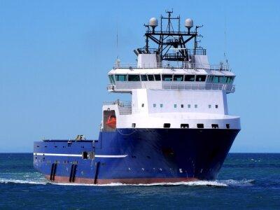 Vinilo Buque de abastecimiento marítimo F, buque de abastecimiento marítimo en curso en el mar a la instalación costa afuera.