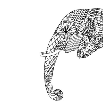 Vinilo Cabeza de elefante