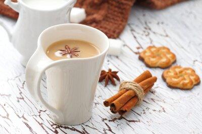 Vinilo Café latte y galletas de chocolate