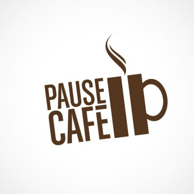 Vinilo cafetería pausa