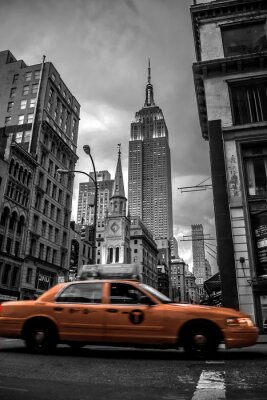 Vinilo Calle de la ciudad de Nueva York en la noche