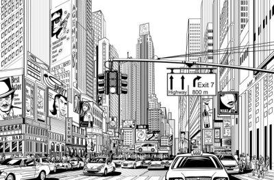 Vinilo calle en la ciudad de Nueva York