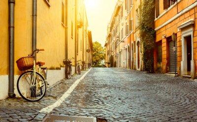 Vinilo Calle vieja en Roma, Italia