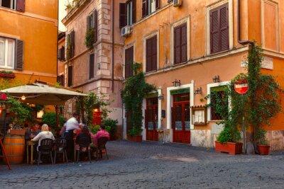 Vinilo Calle vieja en Trastevere, en Roma, Italia