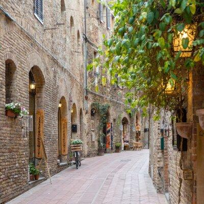 Vinilo Callejón en el casco antiguo de Toscana Italia