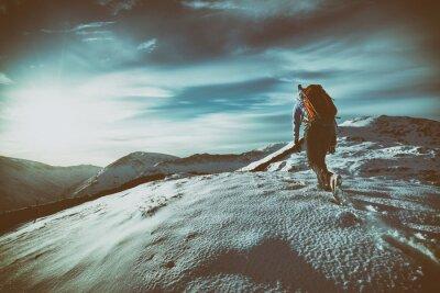 Vinilo Caminar en la montaña