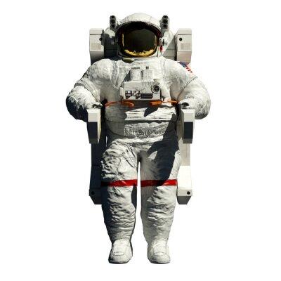 Vinilo caminata espacial de astronautas - 3d ilustración vista frontal en blanco